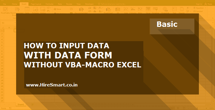 How To Input Data Using Excel Form Data Without Macros