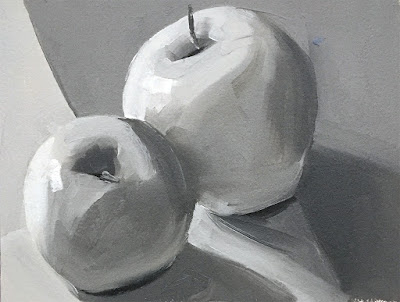 value study of apple still life Apr 11 2019