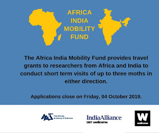 African Academy of Sciences (AAS) Africa-India Mobility Fund 2019