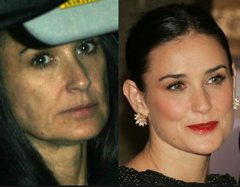 Demi Moore Tanpa Make Up