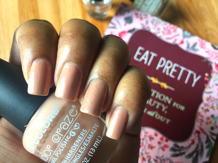 nude nails on brown skin