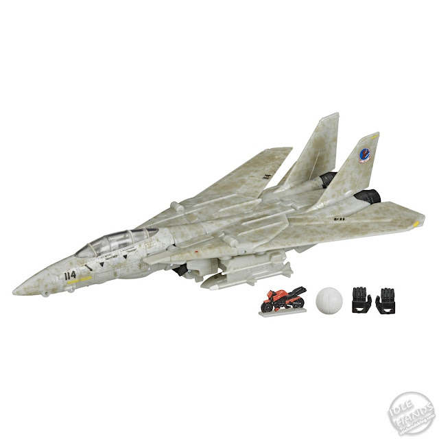 Hasbro Transformers x Top Gun Maverick Collab toy jet mode