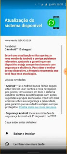 """<img src=""""Motorola one vision android 10 update screenshot"""" alt=""""Motorola one vision is rolling out android 10 update for it's brazilian users"""" />"""