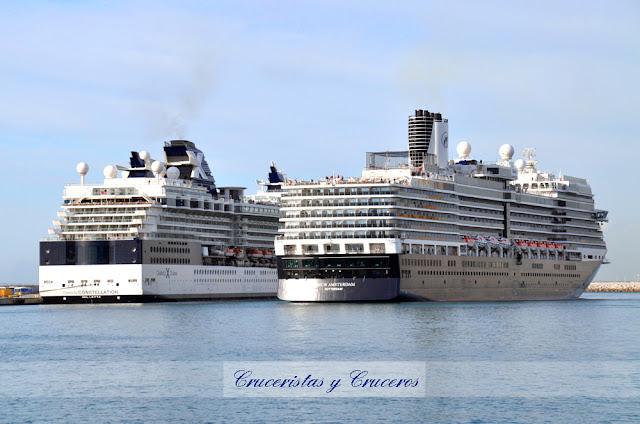 VÍDEOS - Celebrity Constellation y Nieuw Amsterdam frente a frente