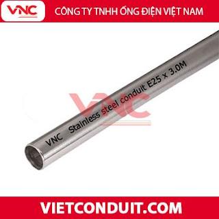 Ống thép luồn dây điện trơn inox 304