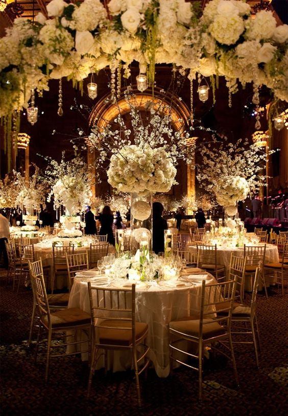 Abundance Of Flowers Shimmering Bling And Bold Elements The More Your Guests Will Be Talking Take Some Inspiration For These Dazzling Centerpieces