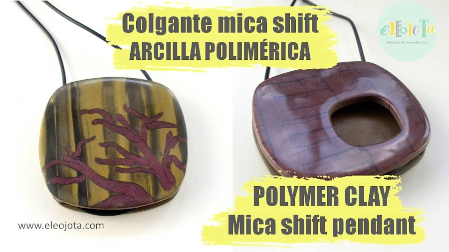 tutorial colgante mica shift fimo