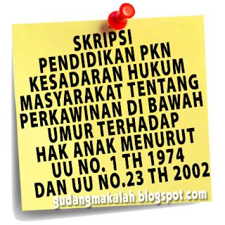 contoh skripsi pendidikan pkn