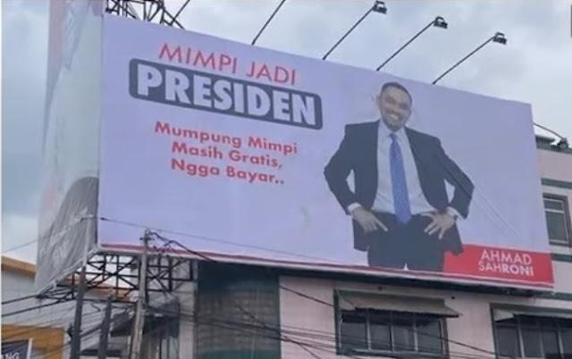 Viral Baliho Ahmad Sahroni Bertuliskan Mimpi Jadi Presiden, Sebut Tak Ada Muatan Politik