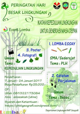 Event Peringatan Hari Besar Lingkungan 2017 by Universitas Pendidikan Indonesia
