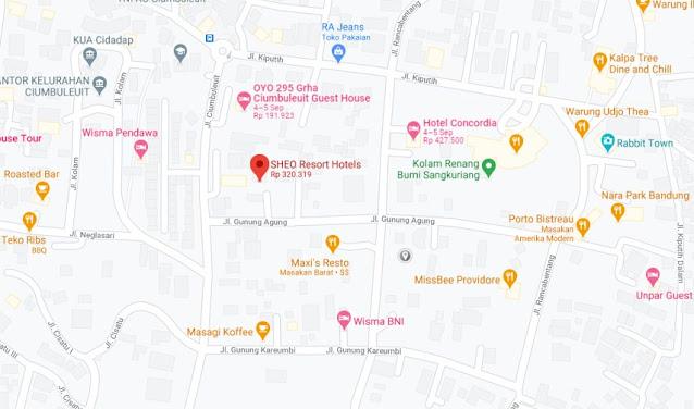 Map Letak Hotel SHEO Bandung