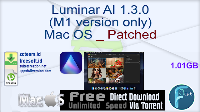Luminar AI 1.3.0 (M1 version only) Mac OS _ Patched_ ZcTeam.id