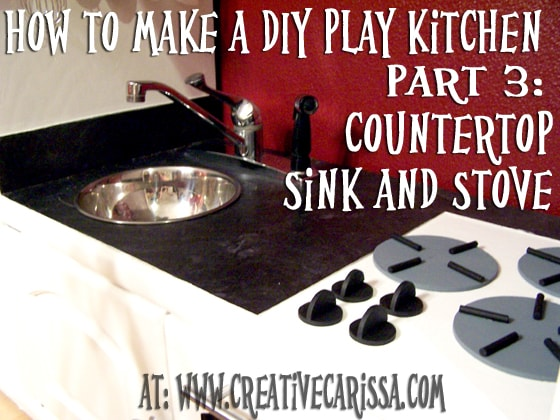 DIY play kitchen for kids #creativegreenliving