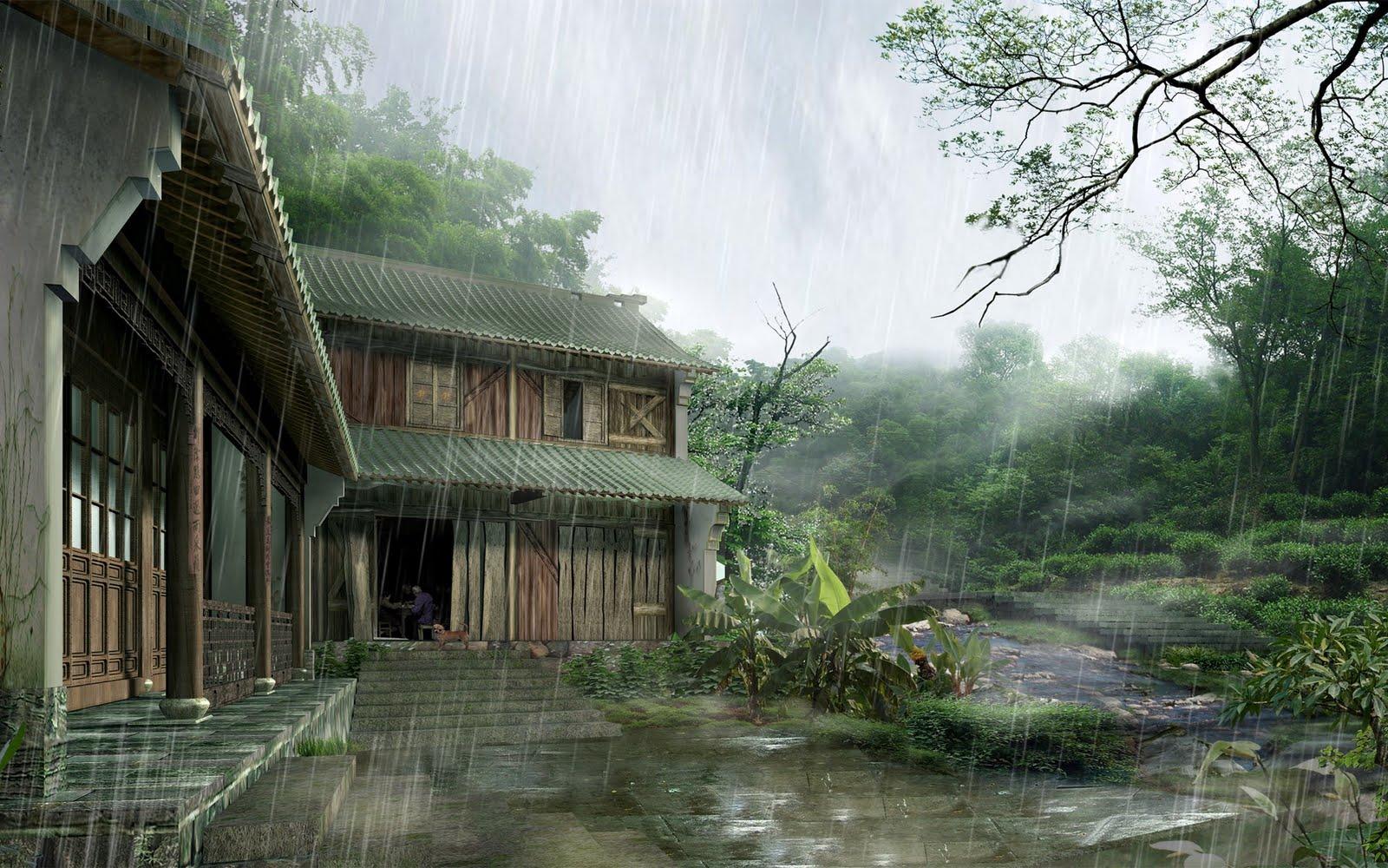 Domo Wallpaper Digital Asian Landscape Wallpapers