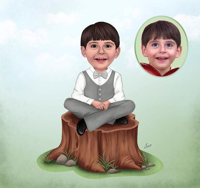 menino sentado no tronco