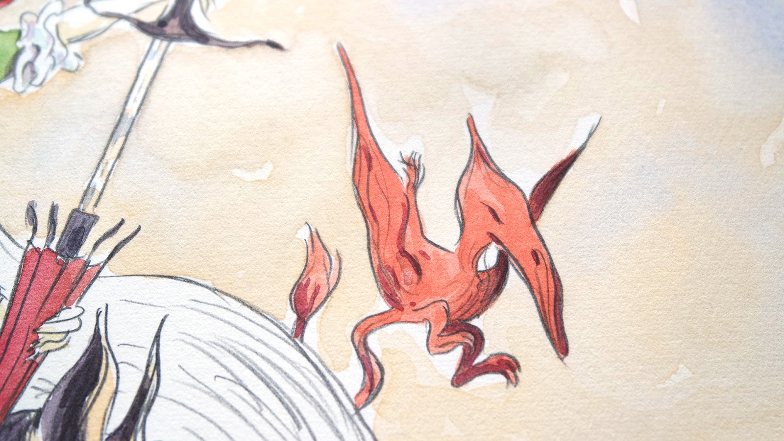 Red pterodactyl