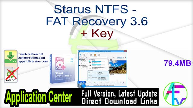 Starus NTFS – FAT Recovery 3.6 + Key
