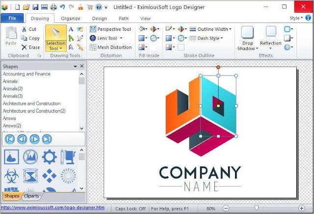 البرنامج, الأفضل, لانشاء, وتصميم, اللوجو, والشعارات, بأحترافية, EximiousSoft ,Logo ,Designer