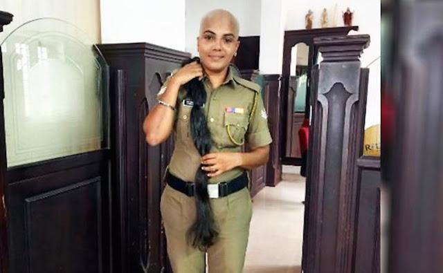 महिला पुलिस अफसर ने कैंसर रोगियों के लिए दान किए बाल, लोग कर रहे सेल्यूट - newsonfloor.com