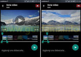 WhatsApp convertire video in GIF