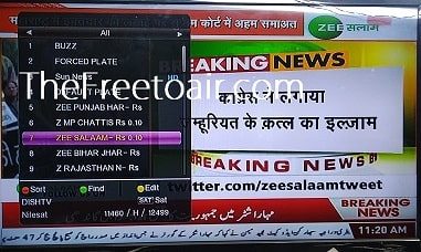 Zee Salaam Channel Temp FTA from SES 12 (Dish TV)