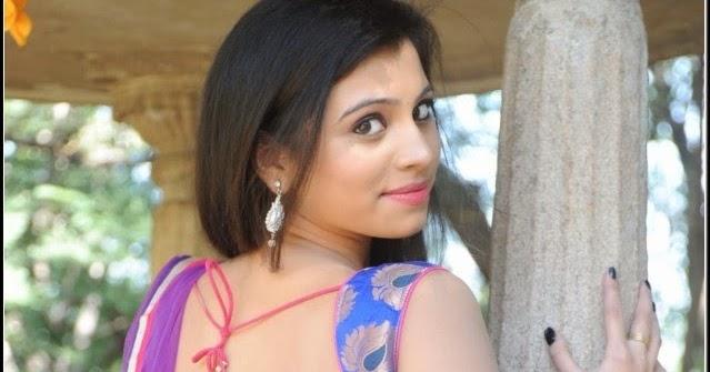 Actress Priyanka Hot Backless Blouse Navel Show Images