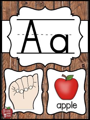Farmhouse ASL Alphabet Posters