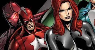 Alexie Shostakov (Red Guardian) and Natasha Romanoff (Black Widow) together