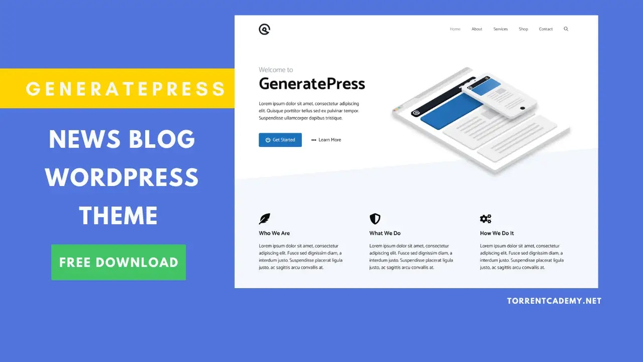 GeneratePress WordPress theme free download