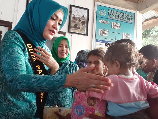 Widya Murad Ismail Terharu dengan Semangat Anak Piliana di Kaki Gunung Binaya