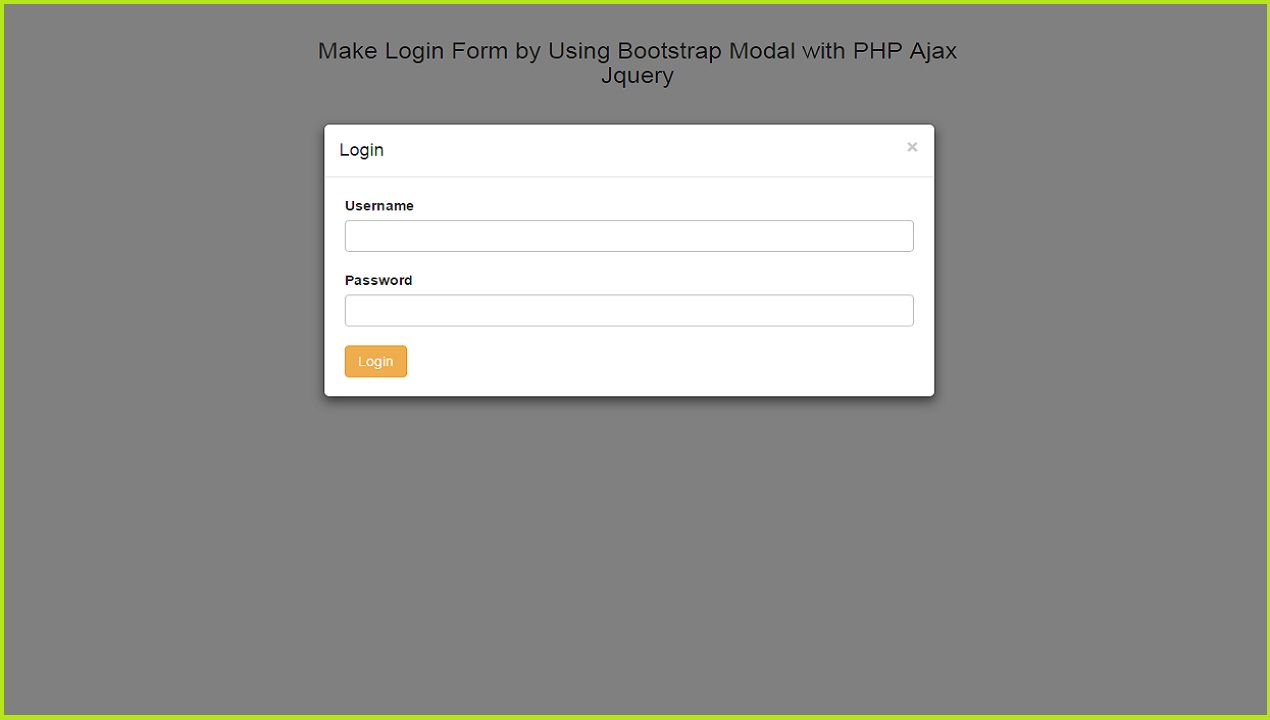 Make login form by using bootstrap modal with php ajax jquery source code falaconquin