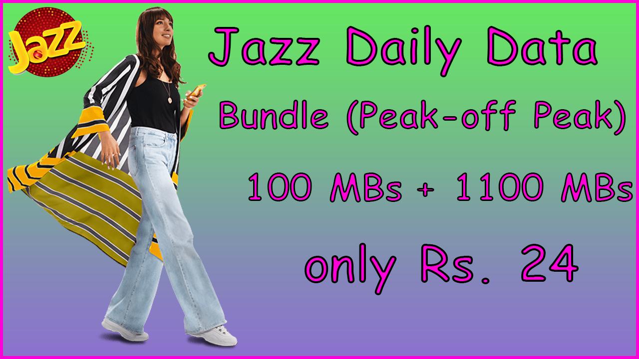 Jazz Daily Data Bundle (Peak-Off Peak) | Jazz Internet Packages | Internet Plans