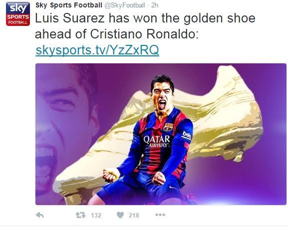 1 Luis Suarez wins La Liga's highest goalscorer award