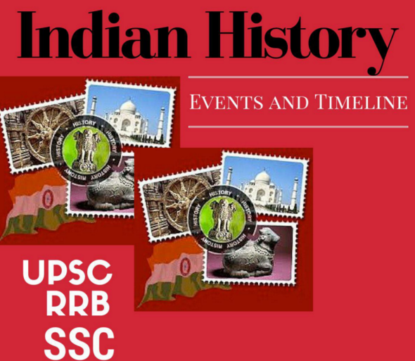 Indian History Major Events and Timeline for UPSC IAS RRB SSC PCS