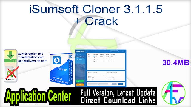 iSumsoft Cloner 3.1.1.5 + Crack