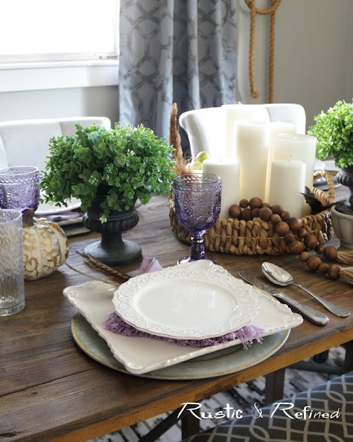 Rustic & Refined Tablescape for Fall