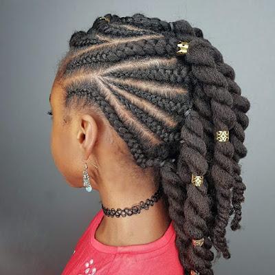 Circular Cornrows Black Girls Hairstyles for School