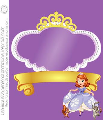 Invitación para imprimir de princesa sofia