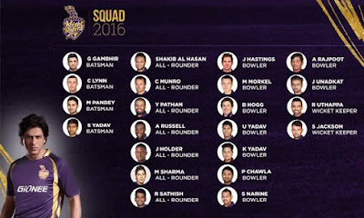 KKR team 2016