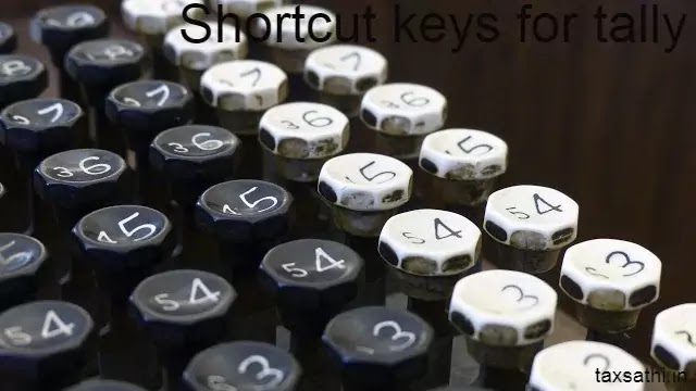 Shortcut Keys for tally | Features keys for tally