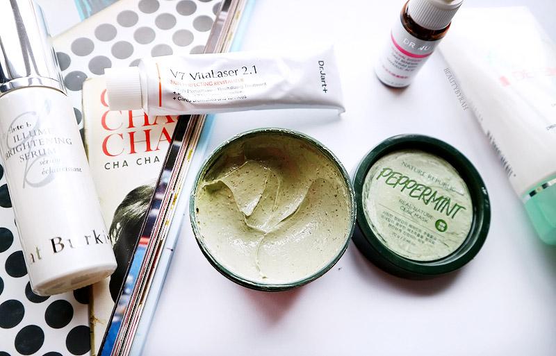 Kat Burki Illuminating Serum and Nature Republic Peppermint Natural Clay Mask review