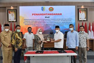 Pemkab Batu Bara MoU Dengan Akademi Teknik Indonesia Cut Muthia