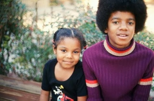 Young Janet and Michael Jackson
