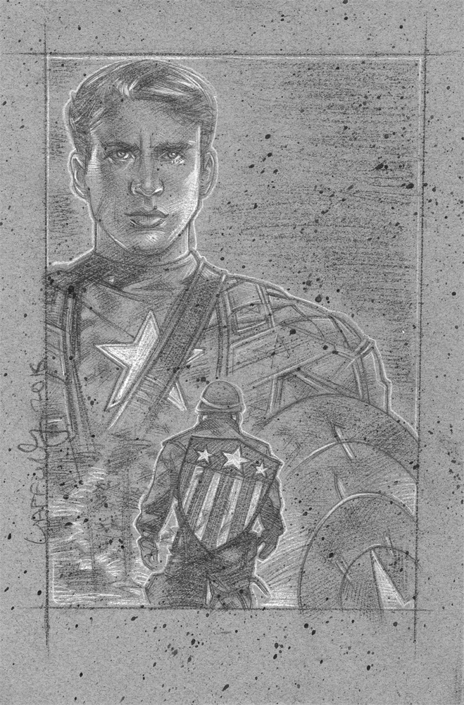 Captain America Artwork © JEFF LAFFERTY 2016