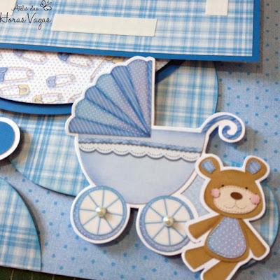 LO João enfeite de porta de maternidade menino ursinho delicado azul bebê litoarte