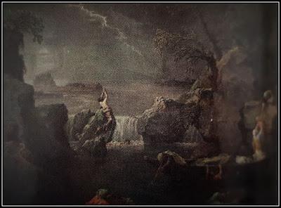 Πίνακας του Nicolas Poussin με σκοτεινά χρώματα και απογυμνωμένα  τοπία.