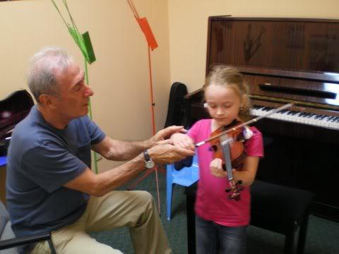First Violin Lesson