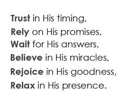 Rely on GOD