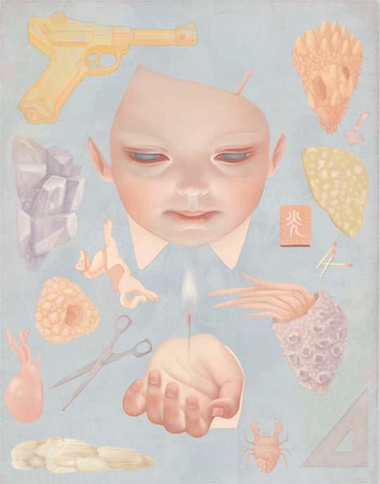 Ilustración encantadora y surrealista de Hsiao-Ron Cheng