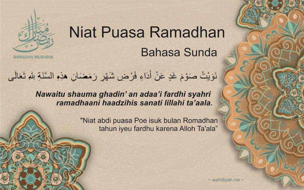 Niat Puasa Ramadhan Arab Latin Jawa Sunda Dan Artinya